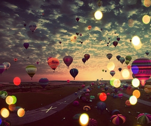 balloon, beautiful, and bright image