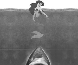 shark, ariel, and disney image