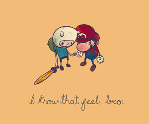 mario, finn, and adventure time image