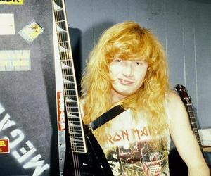 dave mustaine, guitar, and hair image