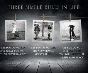 quote, life, and rules image