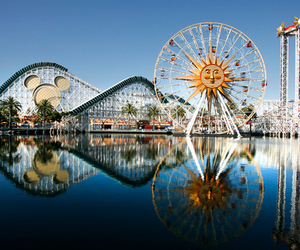 disney, Roller Coaster, and theme park image