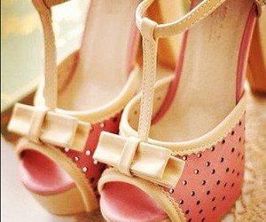 bling, bow, and pink heels image