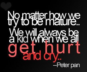 quote, peter pan, and hurt image
