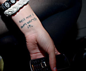 worth, quote, and tattoo image