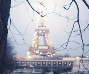 beautiful, eiffel tower, and lights image