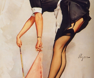 art, gil elvgren, and Pin Up image