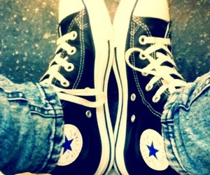 all star, converse, and girl image