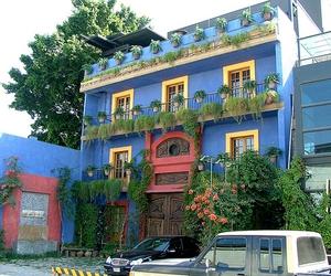 architecture, blau, and blue image