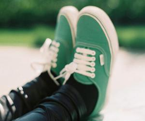 vans, green, and shoes image