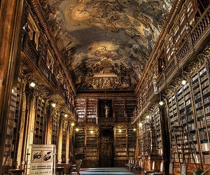 book, library, and prague image