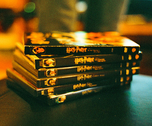harry potter, book, and dvd image