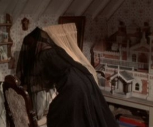 dollhouse, widow, and funereal image