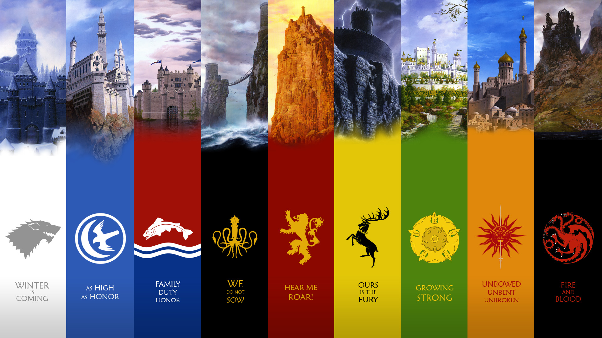 A Song Of Ice And Fire Houses A Song Of Ice And Fire Wallpaper