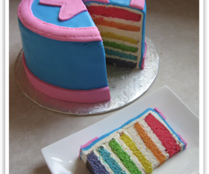 cake, rainbow, and star image