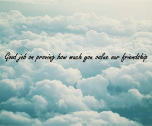 clouds, friendship, and sky image