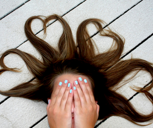 hair, nails, and heart image