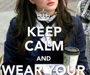 gossip girl, keep calm, and bitch image