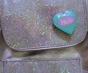 hole, bag, and glitter image