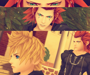 axel, kingdom hearts, and roxas image