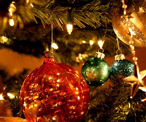 tree, decoration, and christmas spheres image