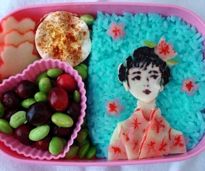 bento, rice, and cute image