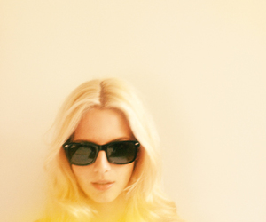 girl, yellow, and blonde image