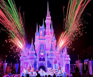 colorful, disney, and fireworks image