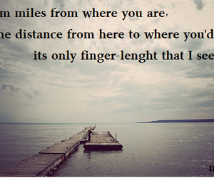 distance, lyric, and text image