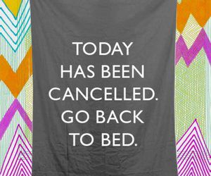 bed, today, and cancelled image