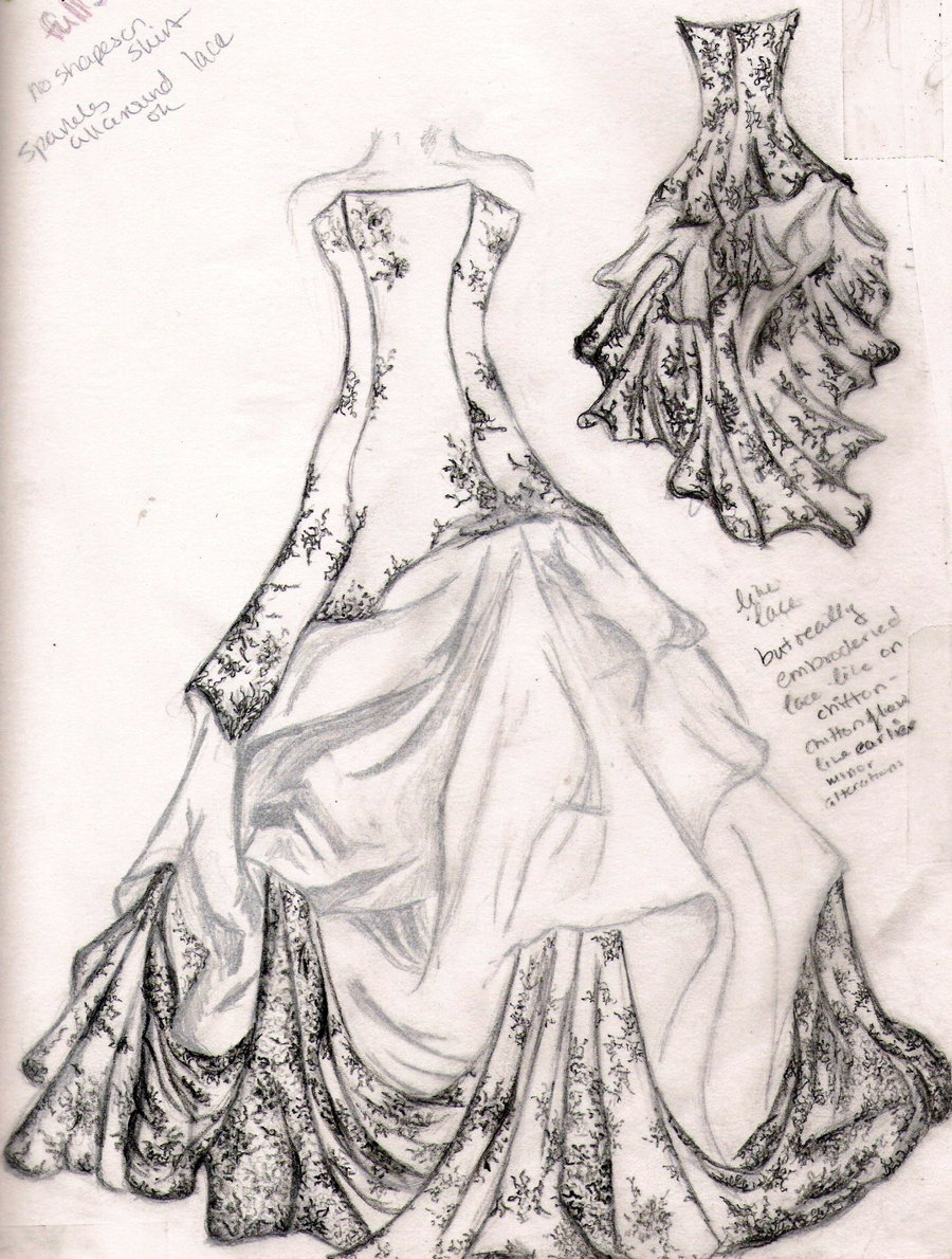 Image Detail For Wedding Dress Sketch By Familiarshadow On Deviantart