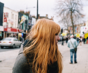 girl, hair, and street image