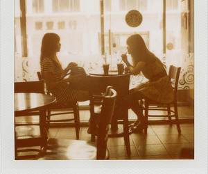 cafe, friends, and coffee image