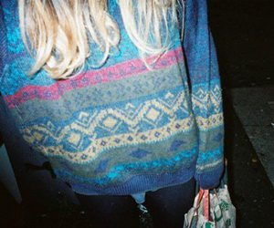 girl, indie, and sweater image