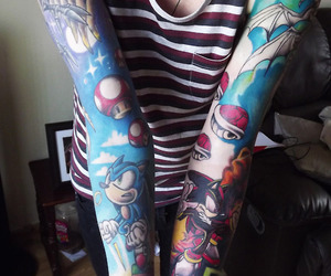 tattoo, sonic, and game image