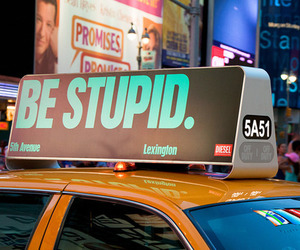 taxi, stupid, and be stupid image