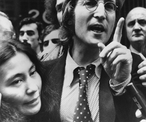 happy birthday, john lennon, and Yoko Ono image