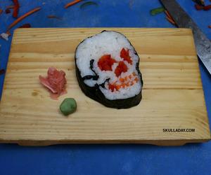 sushi, skull, and food image
