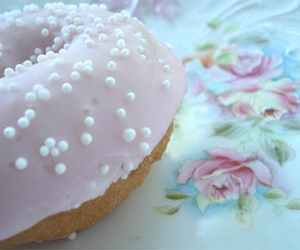 beautiful, donut, and girl image