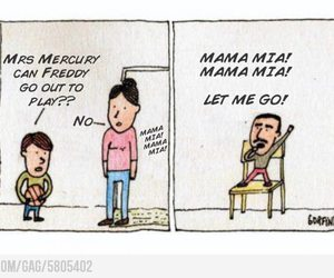 Queen, funny, and freddy mercury image