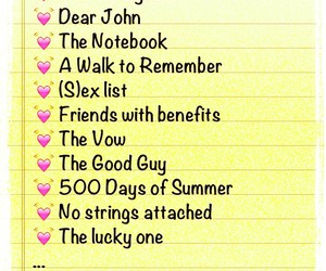 500 Days of Summer, dear john, and friends with benefits image