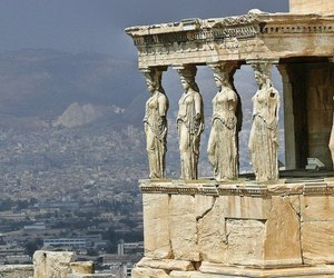 Athens, Greece, and statue image