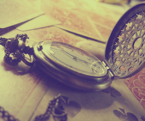 clock, vintage, and pretty image