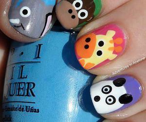 nails, animal, and panda image