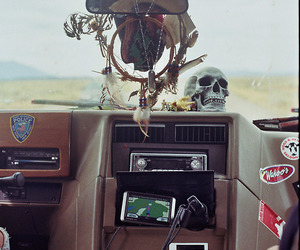 car, skull, and cool image