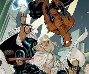 cyclops, emma frost, and Marvel image