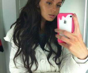 brown hair, kristina makienko, and white image