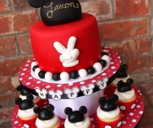 cake, delicious, and mickey mouse image