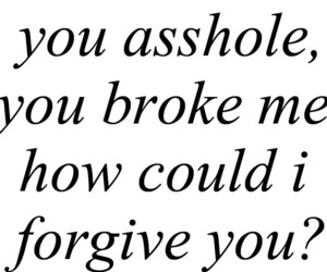 asshole, broken, and forgive image