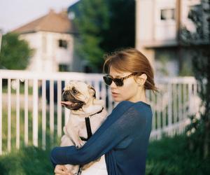 dog, girl, and photography image
